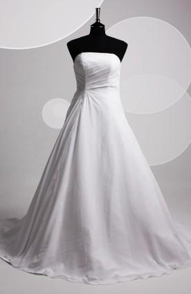Chiffon Strapless Court Train Wedding Gown - Wedding Dresses | Wedding Dresses | Scoop.it