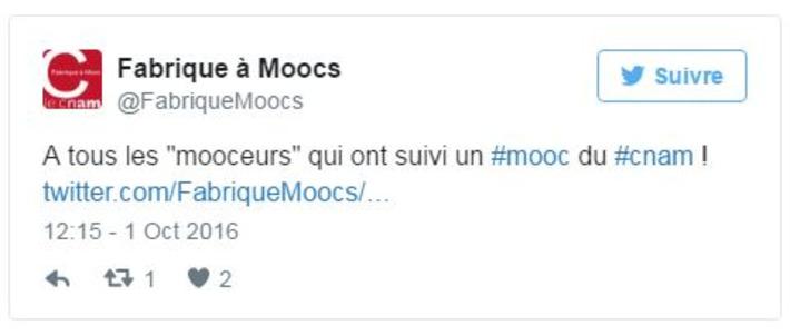 Un nouveau compte Twitter à suivre : @FabriqueMoocs   MOOC Francophone   Scoop.it