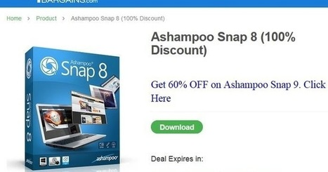 Offre promotionnelle : Ashampoo Snap 8 gratuit ! | Information Technology Learn IT - Teach IT | Scoop.it