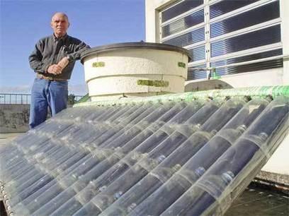 How to make a solar water heater from plastic bottles | Reducir+Reutilizar+Reciclar | Scoop.it