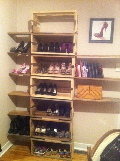 Shoes shelf from pallets | Pallets | Scoop.it