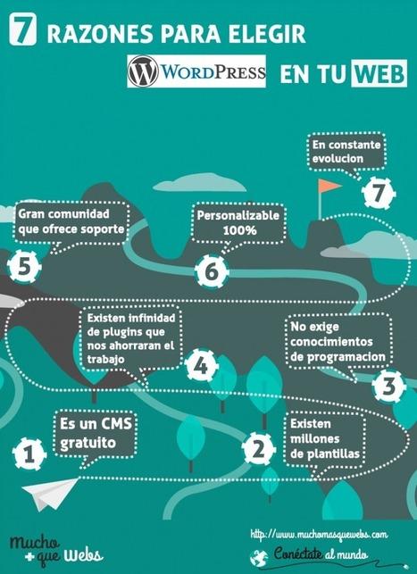 7 razones + 2 para elegir Wordpress en tu web [Infografia] | Infografias | Scoop.it