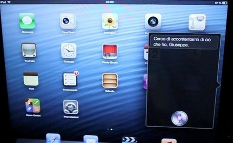 Siri in italiano sul nuovo iPad: la prova di iPadItalia! - iPad Italia Blog | Social Media: tricks and platforms | Scoop.it