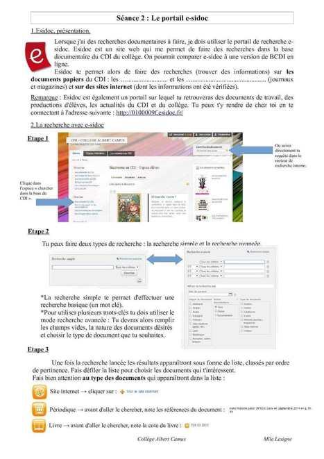 Séance 2 Esidoc | Culture informationnelle et CDI | Scoop.it