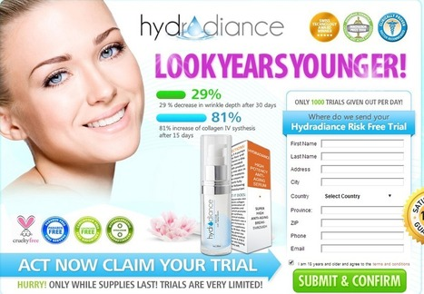 Hydra Radiance Anti Wrinkle Review - FREE TRIAL SUPPLIES LIMITED!!! | Get Amazing Skin Care Results With Hydra Radiance | Scoop.it