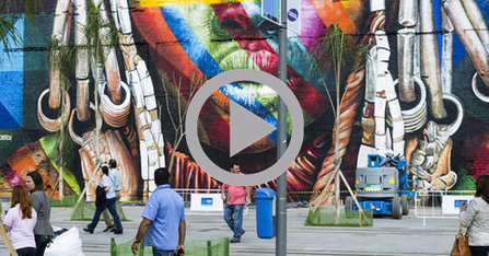 A Rio, la plus grande fresque du monde s'étale sur 3000 mètres carr | Culture | Scoop.it
