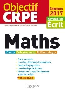 Objectif CRPE - Maths : cours, entraînement, méthodologie 2017 | Les nouveautés de la médiathèque | Scoop.it