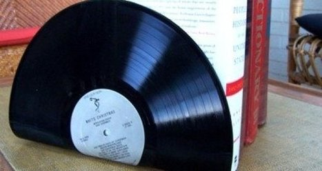Récup Vinyl - Serre-livres | ...récup | Scoop.it