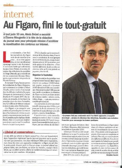 Au Figaro, fini le tout-gratuit | DocPresseESJ | Scoop.it