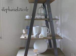 [Coup de ♥] - Faire un meuble étagère avec une échelle double | Best of coin des bricoleurs | Scoop.it