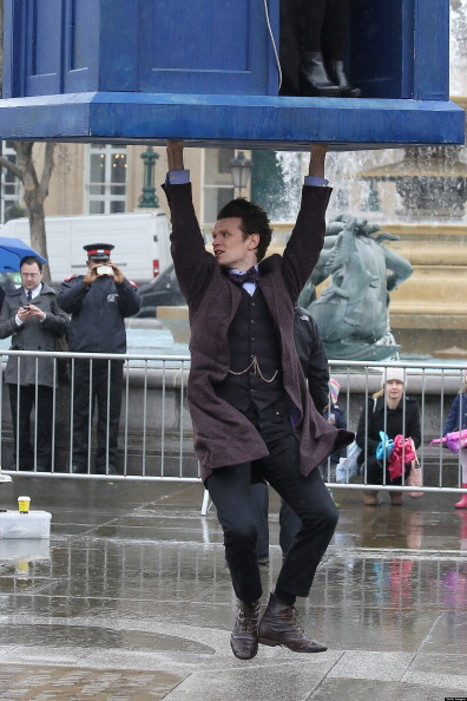 'Doctor Who' Filming In London, Flying TARDIS Takes To The Sky (PHOTOS) - Huffington Post | The TARDIS Speaker | Scoop.it