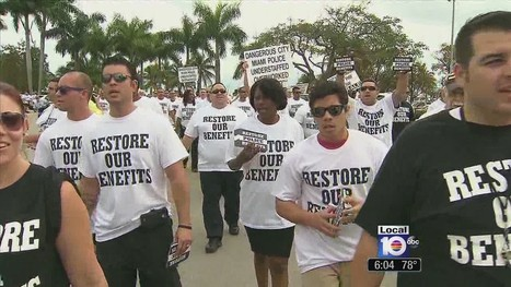 Miami police officers hold protest over cuts - Local 10   How to become a police officer   Scoop.it