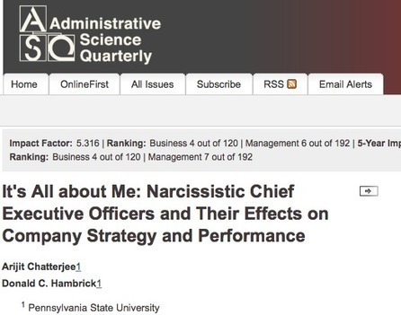 #HR Is A Narcissistic Leader Good For Your Organization? - by  @drbret - Positive Organizational Behavior | #HR #RRHH Making love and making personal #branding #leadership | Scoop.it
