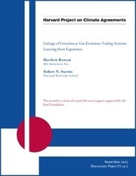 Linkage of Greenhouse Gas Emissions Trading Systems: Learning from Experience - Harvard - Belfer Center for Science and International Affairs | Sustain Our Earth | Scoop.it
