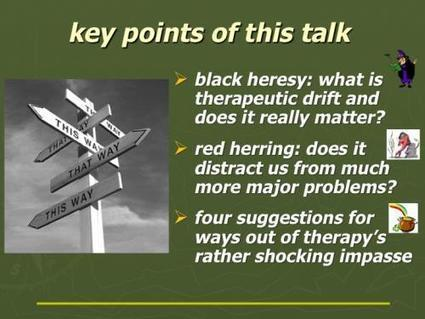 Therapist drift: black heresy or red herring - maybe not so important? | Cognitive & General Psychotherapy Research | Scoop.it