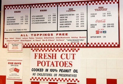 The Five Guys Menu – Simplicity At Its Finest? | Five Guys | Scoop.it