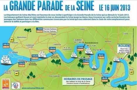 Armada : les heures de passage de la grande parade - Grand-Rouen | Armada de Rouen 2013 | Scoop.it