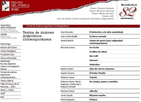Textos Teatrales de Autores Argentinos   Teatro   Espacio Escena   Scoop.it