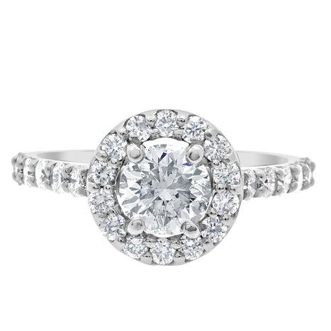 Gillian engagement ring is a diamond surrounded by a halo of diamonds | Engagement Rings Dublin. | Scoop.it
