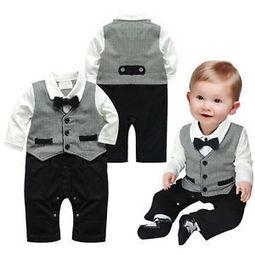 Fashion Boy Baby Kid Toddler Formal Gentleman Party Romper Clothing 3-24M 1pcs | Jordan's likes | Scoop.it