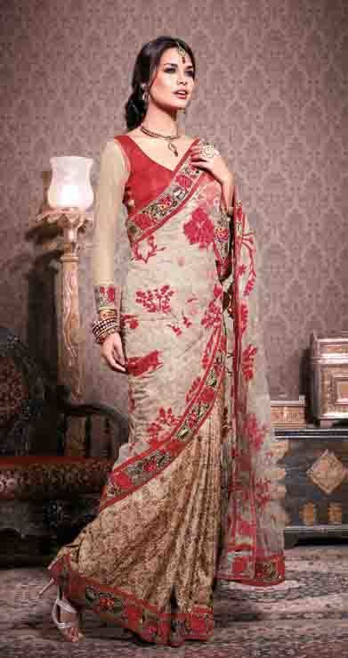 Net Embroidery with Jacquard Silk Exclusive Saree   Indian Ethnic Wear For Women   Scoop.it