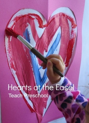 Hearts at the easel | Teach Preschool | Scoop.it