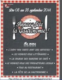 Annecy: la seconde édition de la Fête de la gastronomie se prépare - LeMessager.fr | Fête de la Gastronomie 23 au 25 sept. 2016 | Scoop.it