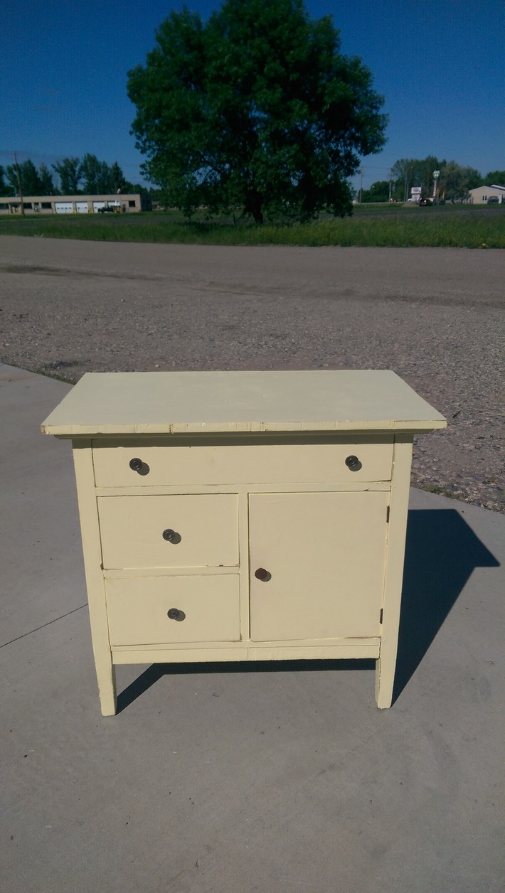 Vintage Country Shabby Prim Cabinet or Chest in Soft Creamy Butter Yellow | Antiques & Vintage Collectibles | Scoop.it