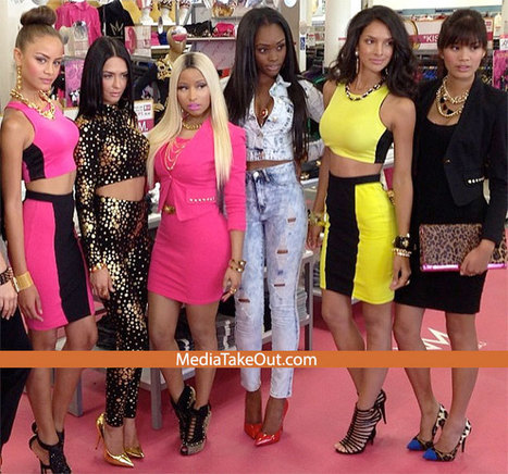 Nicki Minaj Poses With THE MODELS FOR HER CLOTHING LINE . . . And NONE OF THEM MESS WITH NICKI . . . In Terms Of BEAUTY!!! - MediaTakeOut.com™ 2013 | GetAtMe | Scoop.it