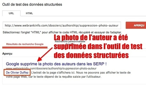 Le Rich Snippet Tool n'affiche plus la photo de l'auteur | SEO - REFERENCEMENTS | Scoop.it