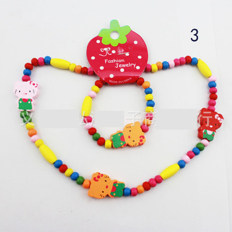Aliexpress.com : Buy Cute Fashion Jewelry for Kids Wood Necklace and Bracelet Hello Kitty Jewelry Butterfly and Rabbit from Reliable wood jewelry suppliers on  Miss Lyra | Hello Kitty | Scoop.it