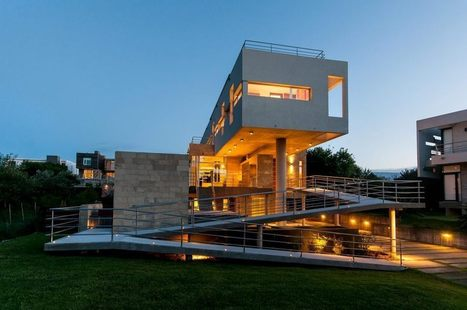 Incroyable résidence secondaire contemporaine surplombant l'océan atlantique en Argentine | Immobilier International | Scoop.it
