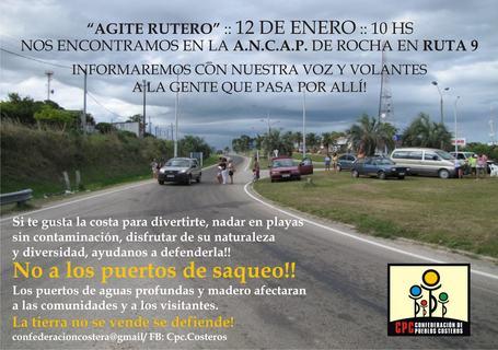 Uruguay / Confederación de Pueblos Costeros : Agite rutero 12/01/2013 | MOVUS | Scoop.it