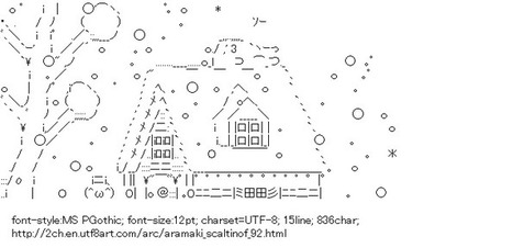Aramaki Scaltinof Snow House | ASCII Art | Scoop.it