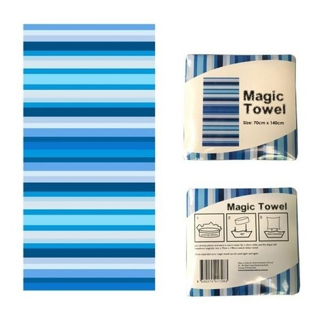 Magic Towel Blue Stripes - Manchester House | Soft Furnishings | Scoop.it