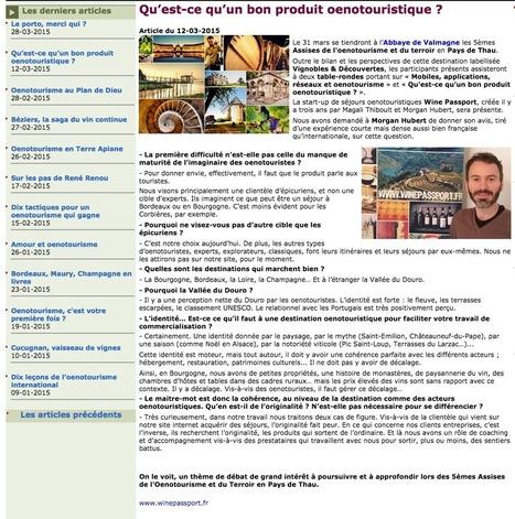 Qu'est-ce qu'un bon produit oenotouristique ? | TOURISME OENOLOGIE | Scoop.it
