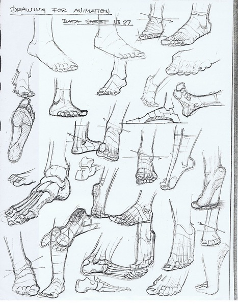 Feet Drawing Reference Guide