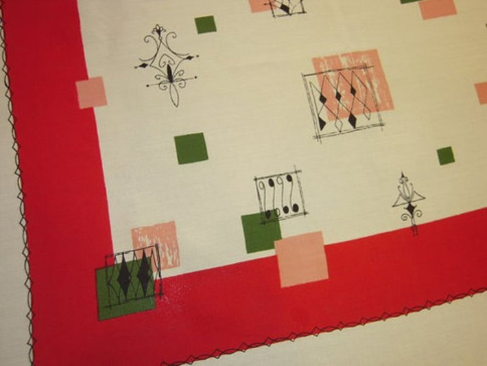 Vintage Tablecloth Space Age Atomic Geometric MWT | Antiques & Vintage Collectibles | Scoop.it