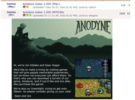 Anodyne Pirate Bay Promo Post-mortem. | Transmedia Landscapes | Scoop.it