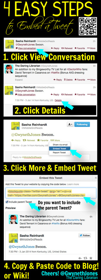 4 Easy Steps to Embed a Tweet | library | Scoop.it