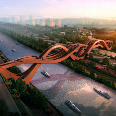 Sinuous structure by NEXT architects wins Chinese bridge competition   D_sign   Scoop.it