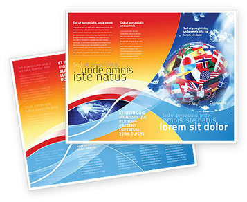 World Flags Brochure Template | Brochure Templates | Scoop.it