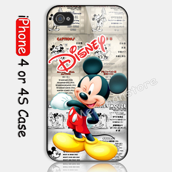 Disney Mickey Mouse Classic Custom iPhone 4 or 4S Case | Merchanstore - Accessories on ArtFire | Custom iPhone 4 or 4S Case Cover | Scoop.it