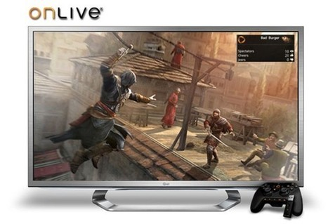LG Google TVs now have integrated OnLive cloud game streaming   AllAboutSocialMedia   Scoop.it