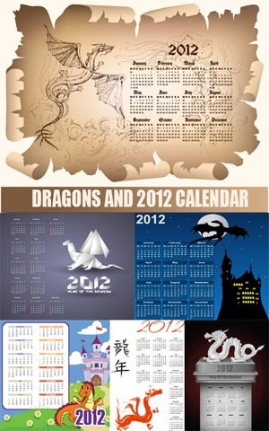 Todovectores: Dragons 2012 Calendars - Calendarios 2012 con ... | Recursos | Scoop.it