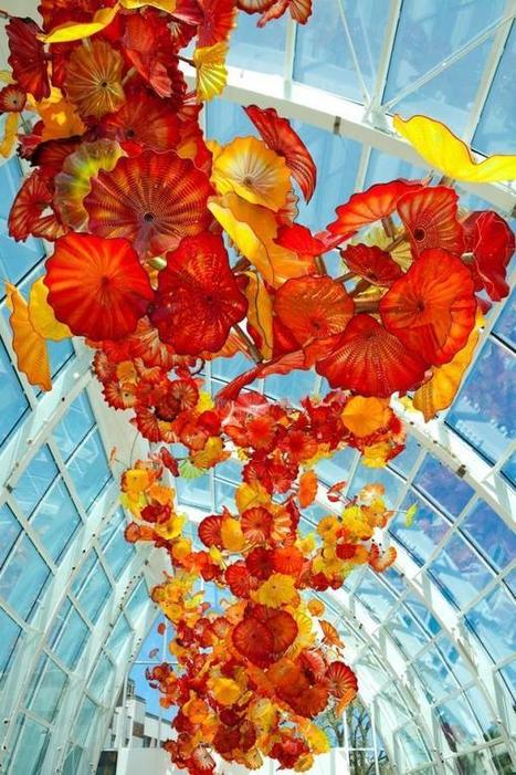 Dale Chihuly's Vibrant Glass Sculpture Garden | Glass Art Obsession | Scoop.it