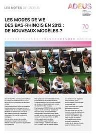Strasbourg - Les notes de l'ADEUS n°70 : Modes de Vie | Dernières publications des agences d'urbanisme | Scoop.it