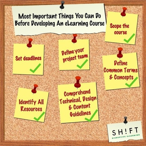 6 Most Important Things You Can Do Before Developing An eLearning Course | Better teaching, more learning | Scoop.it