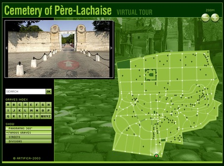 Pere Lachaise: Cemetery's virtual tour | Geography Education | Scoop.it