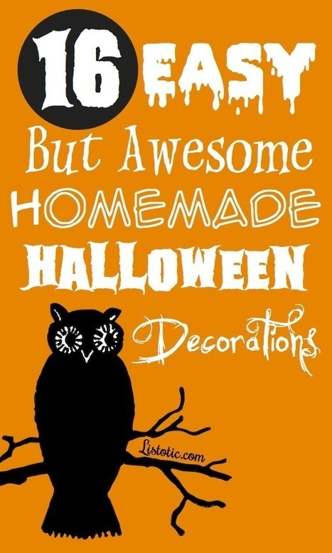 16 Easy But Awesome Homemade Halloween Decorations (With ... | Halloween | Scoop.it